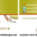 K.M. Jackson business card design