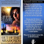 OUT OF THE SHADOWS bookmark design