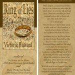 RING OF LIES bookmark design