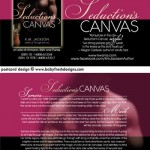 SEDUCTION'S CANVAS postcard design