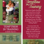 TEMPTRESS IN TRAINING bookmark design
