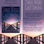 TWO WEEKS LAST SPRING bookmark design